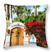 Casitas Laquita Palm Springs Throw Pillow