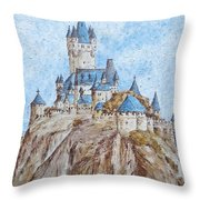 Castle On The River Rhine Throw Pillow