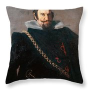 Caspar De Guzman Count Of Olivares Diego Rodriguez De Silva Y Velazquez Throw Pillow