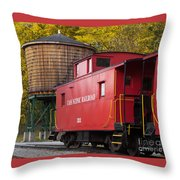 Cass Railroad Caboose Throw Pillow