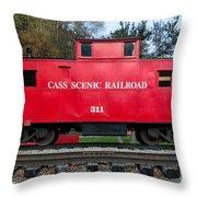 Cass Red Caboose Throw Pillow