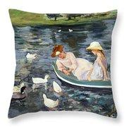 Cassatt: Summertime, 1894 Throw Pillow
