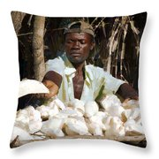 Cassava Root Throw Pillow