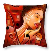 Casselopia - Violin Dream Throw Pillow