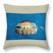 Cassiopeia Jellyfish Abstract Throw Pillow