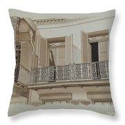 Cast Iron Balcony Rail Throw Pillow