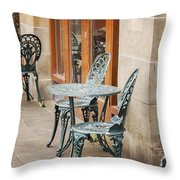 Cast Iron Garden Furniture Throw Pillow