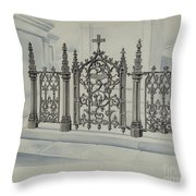 Cast Iron Gate And Fence Throw Pillow