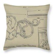 Cast Iron Urn Holder Throw Pillow