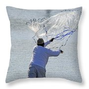 Cast Net Throw Pillow