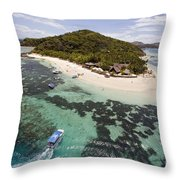 Castaway Island Aerial Throw Pillow