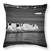 Castel Dell'ovo Throw Pillow