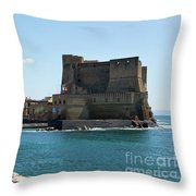 Castel Dell'ovo, Naples, Italy Throw Pillow