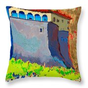 Castello Di Villafranca Throw Pillow