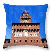 Castello Sforzesco Tower Throw Pillow