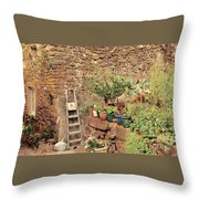 Castelo Rodrigo Garden Throw Pillow