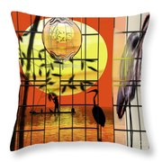 Castigated Reflection-no Longer In The Light Throw Pillow
