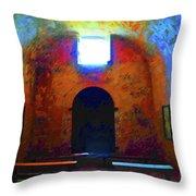 Castillo De San Marcos Chapel Throw Pillow