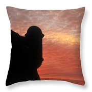 Castillo De San Marcos Throw Pillow