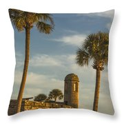 Castillo De San Marcos Dawn II Throw Pillow