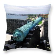 Castillo De San Marcos In St Augustine Florida Throw Pillow