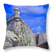 Castillo El Morro Havana Cuba  Throw Pillow