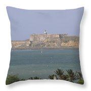 Castillo San Felipe Del Moro Throw Pillow