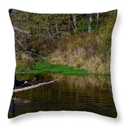 Casting For Trout Throw Pillow