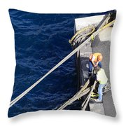 Casting Off Throw Pillow