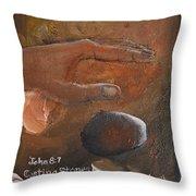 Casting Stones Throw Pillow