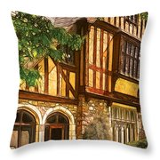 Castle - Castle IIi Throw Pillow by Mike Savad