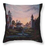 Castle 1 Throw Pillow