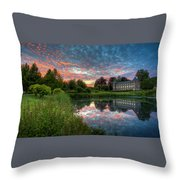 Castle And Pond Throw Pillow