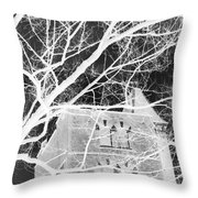 Castle At Night Throw Pillow