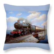 Castle At Starcross Throw Pillow
