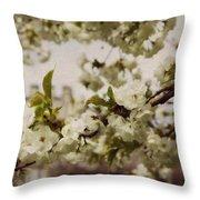 Castle Blossoms Throw Pillow