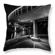 Castle Bridge B By Night Bristol England Throw Pillow