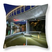Castle Bridge C By Night Bristol England Throw Pillow