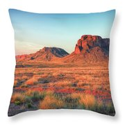 Castle Butte Throw Pillow