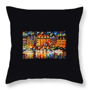 Castle By The River Throw Pillow