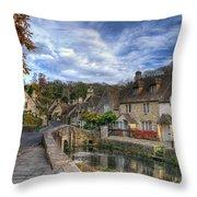 Castle Combe England Throw Pillow