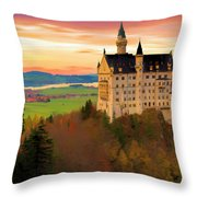 Castle Dawn Throw Pillow