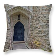 Castle Entrance Throw Pillow by Suzanne Gaff