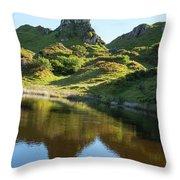 Castle Ewan With Reflection Throw Pillow