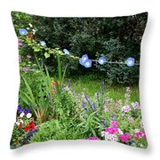 Castle Garden In Germany Throw Pillow