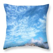 Castle Geyser Yellowstone Np Photo Painting_grk7577_05262018 Throw Pillow