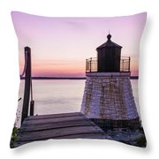 Castle Hill At Sunset Throw Pillow