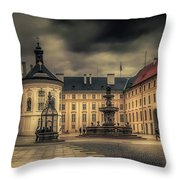 Castle Hill In Color Throw Pillow