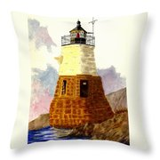 Castle Hill Lighthouse Throw Pillow