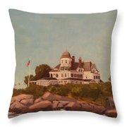 Castle Hill Newport Ri Throw Pillow